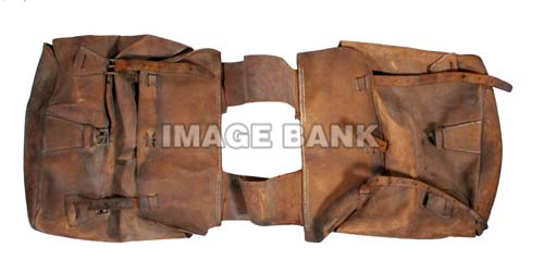 18th Century saddle bags with iron buckles